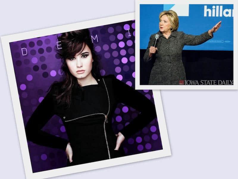 Demi Lovato endorsed Hillary Clinton
