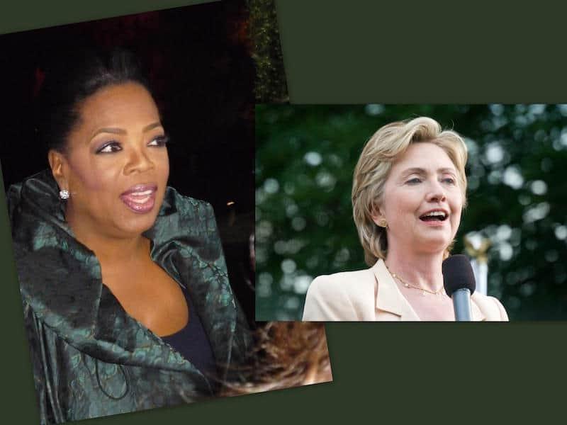 Oprah Winfrey endorsed Hillary Clinton