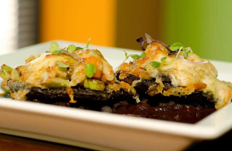 Holiday Food Recipes - Seafood Stuffed Portobello