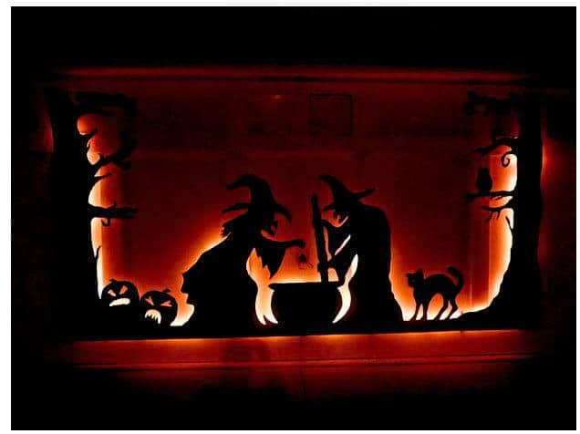 Halloween Garage Decoration - Witches