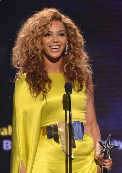 Fall Fashion - Beyonce in Spicy mustard dress attending BET Awards