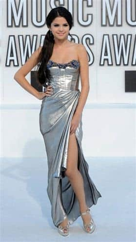 Fall Fashion - Selena Gomez in Sharkskin color