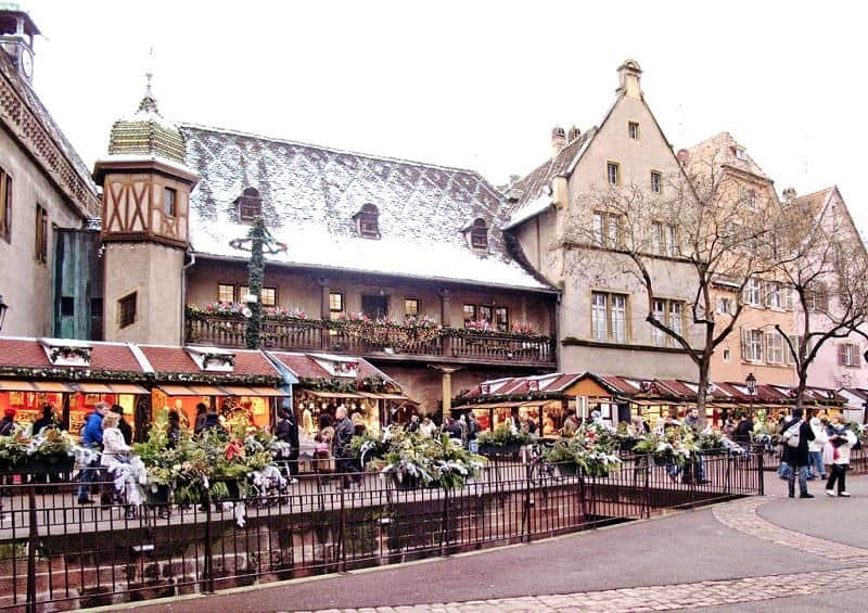 Christmas market at Colmar, Alsace region, France