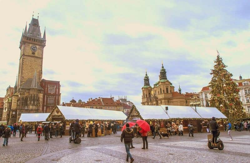 Christmas market at Charles Square - Prague, Czech Republic