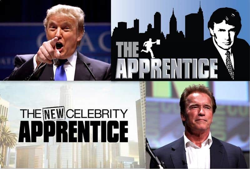 "Donald Trump, Arnold Schwarzenegger and ""The Apprentice"" show"