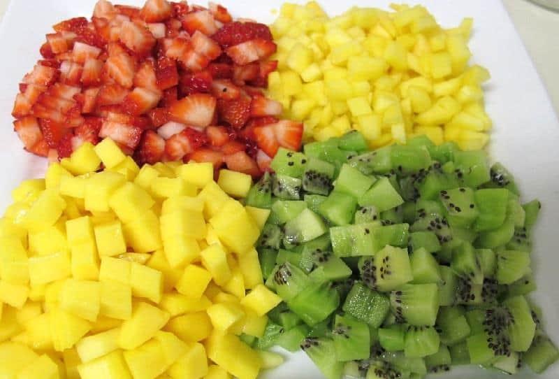 Fruit Salad Recipe: Melon, Apple, Zucchini and Pomegranate Salad