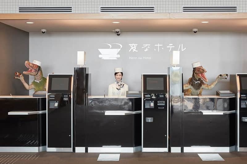 Japan hotels staffed with humanoid robots and robotic dinosaurs
