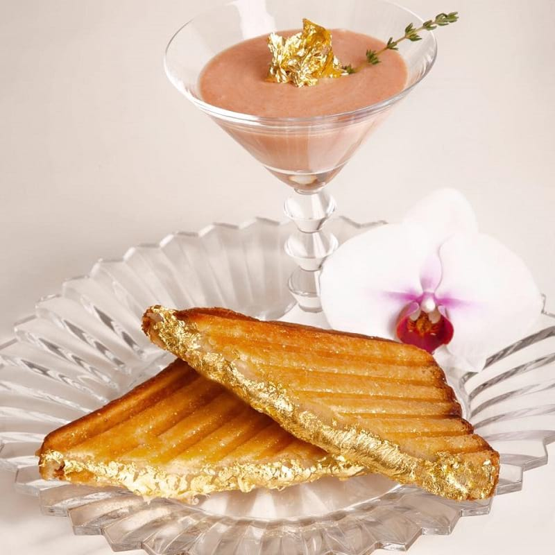 Food Creations: Golden Grilled Cheese Sandwich from Serendipity 3