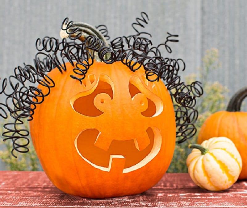 Curly Jack-O'-Lantern