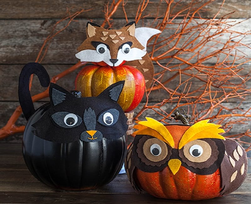 Halloween Animal Pumpkins