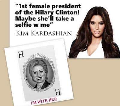 Kardashian endorsed Hillary Clinton