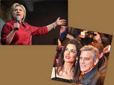 George Clooney endorsed Hillary Clinton