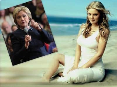 Drew Barrymore endorsed Hillary Clinton
