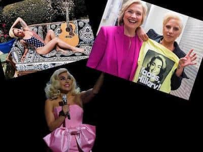 Lady Gaga endorsed Hillary Clinton