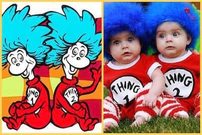 Thing One Thing Two, Cat in The Hat, Twin Halloween Costume