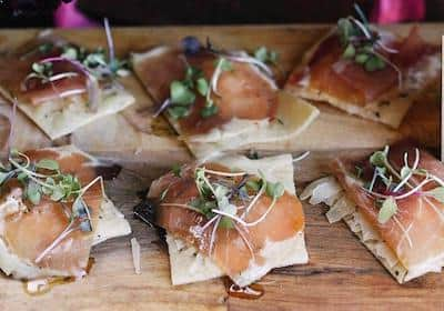 Holiday Food Recipes - Appetizers - Prosciutto Flat Bread