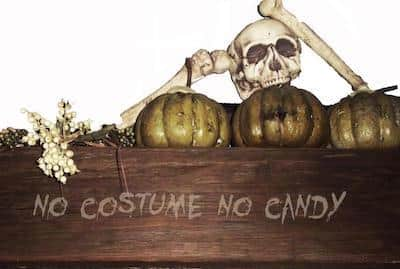 Halloween Decoration - Sign with Skull