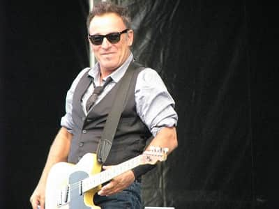 Song writer, singer and musician Bruce Springsteen