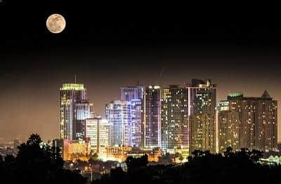Supermoon over Quezon City, Philippines