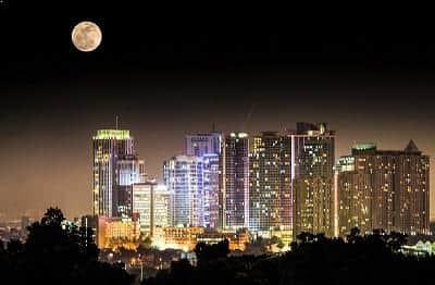 Supermoon over Quezon City, Philippines