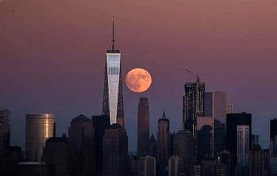 Supermoon Over New York City