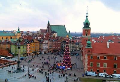Warsaw, Polland – Christmas Market at the Castle Square