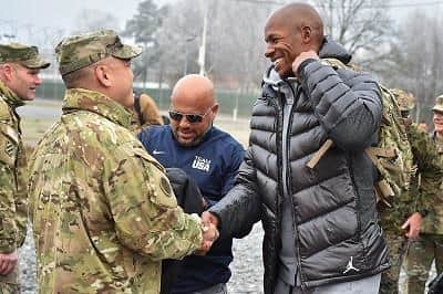 NBA legend Ray Allen was at USO Holiday Tour at the 7th Army Training Command's Grafenwoehr, Germany, December 8th, 2016