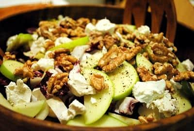 Fruit Salad Recipe: Walnut Apple Endive Salad