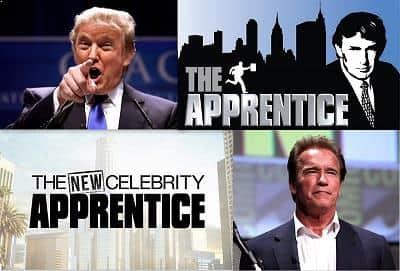 "Donald Trump, Arnold Schwarzenegger and ""The Apprentice"" show"