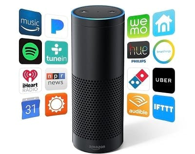 Smart voice-controlled personal assistant device Amazon Echo