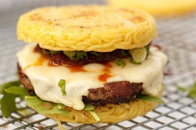 Food creations: Ramen Burger